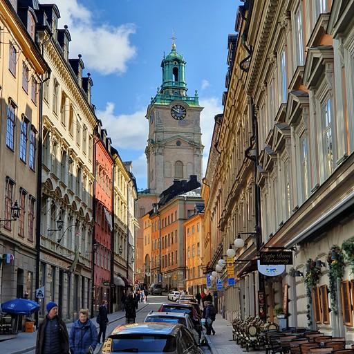 רחוב בעיר העתיקה בסטוקהולם