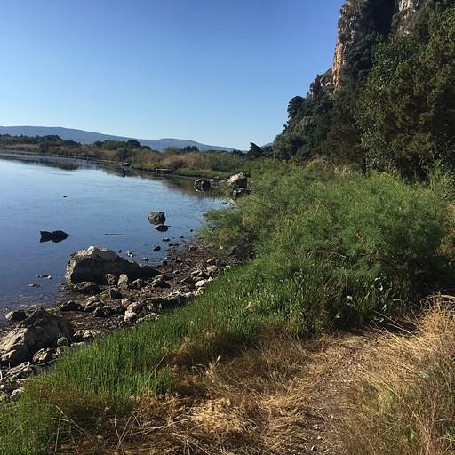 המסלול ליד הלגונה