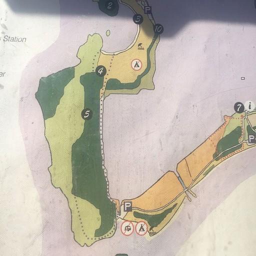המפה של מצודת נאבוריו, הלגונה והחוף