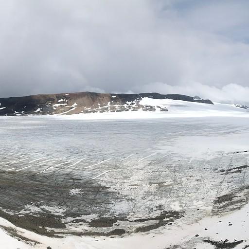 שדה הקרח Reef, כפי שהוא נראה מהפאס.