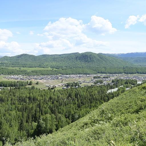 הנוף מהתצפית לכיוון הכפר חמו