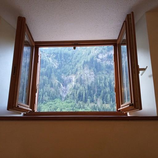 חלון המקלחות מהאכסניה בוולסוניז
