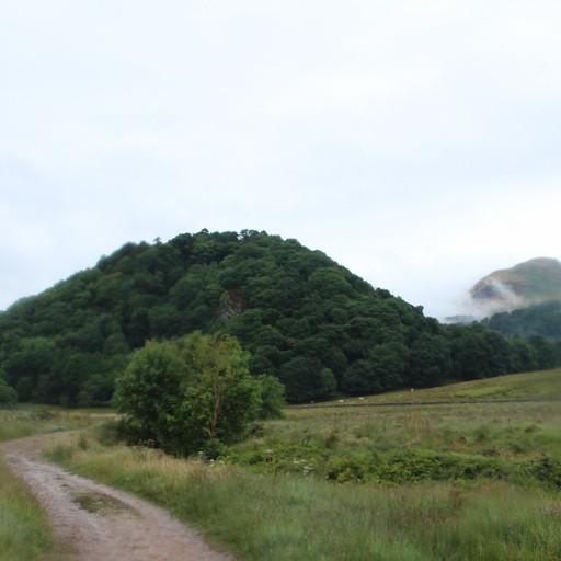 נוף גבעות לקראת אמצע היום