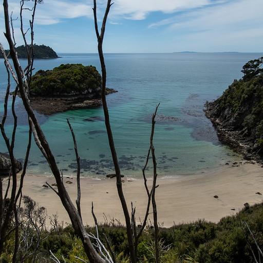 חופים פרטיים מעט לפני הmaori bay
