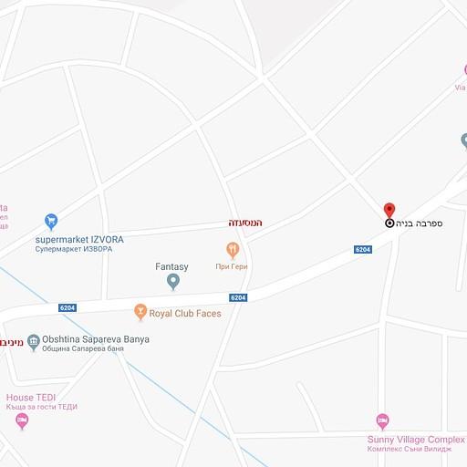 מפת הכפר, הדירה , המסעדה ונקודת האיסוף