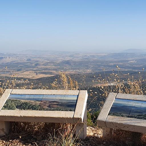 לוח התצפית בראש הר מצפה הימים