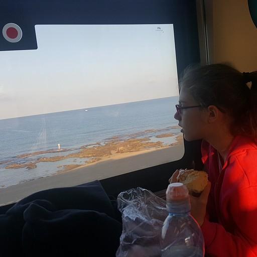ברכבת לנהריה