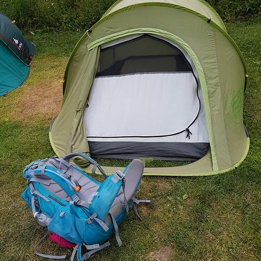 האוהל שישנתי בו בלילה