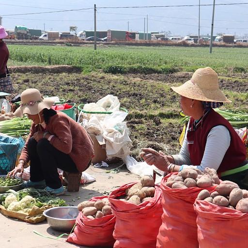 שוק גדול בכפר Yousuo