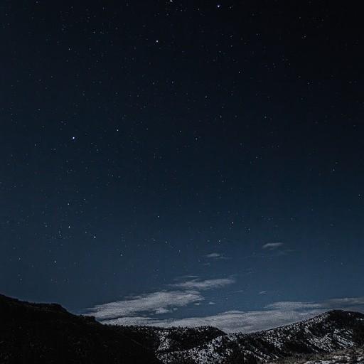 השמיים בהירים ומלאי כוכבים