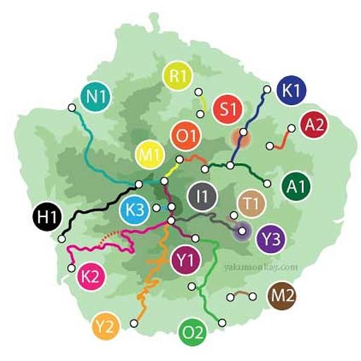 מסלולי טרקים באי, מפה מפורטת יותר מצויה בקבצים