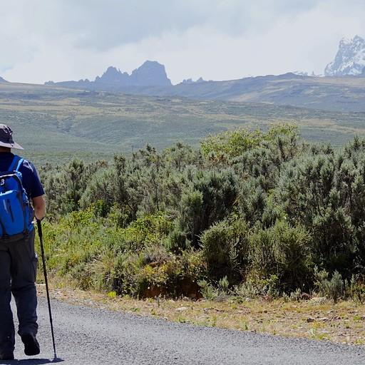 מרגישים את ההר, עולים ועולים על רקע ההר