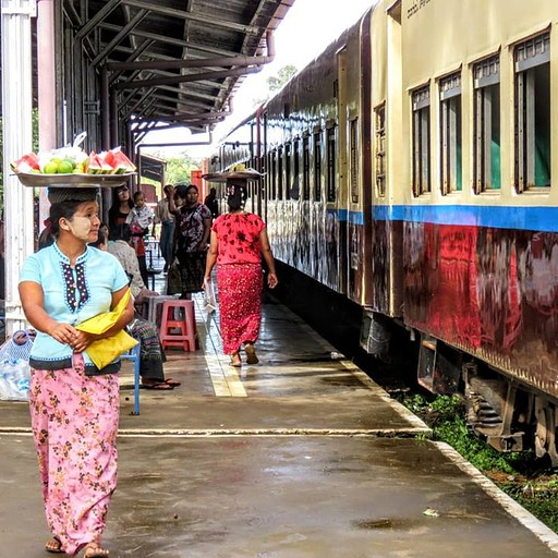 תחנת הרכבת בפין או לין לכיון סיפו