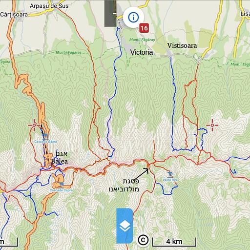 מפת מסלולים כללית בהרי פאגראש