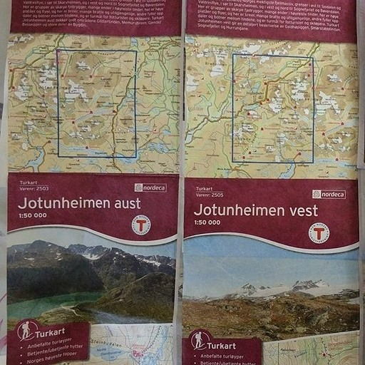 המפות שקנינו באוסלו