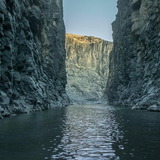 קניון הבזלת בחלק העליון של ההיאדן