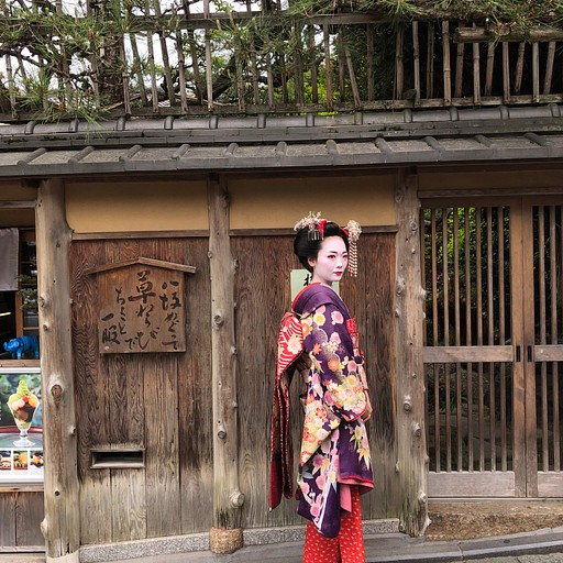 Tourists dressed up like a Maiko