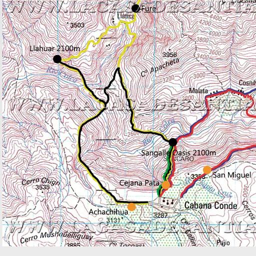 נעזרתי במפה הזאת בשביל לתכנן את המסלול, ניתן לראות את שם האתר למעלה