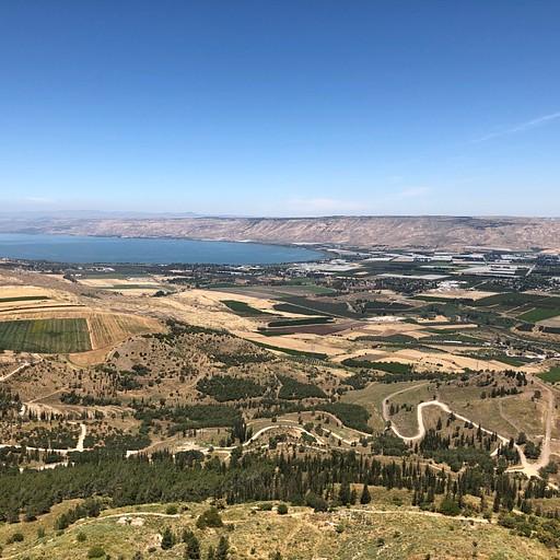 הכנרת ועמק הירדן - ממצפה אלות (קליק להגדלה)