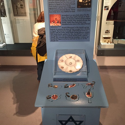 מתוך מוזיאון סט. מונגו: כך מסבירים לילדים על יהדות: משחק עם המרכיבים של צלחת הסדר
