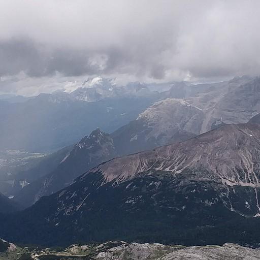 נוף מפסגת Croda del Becco