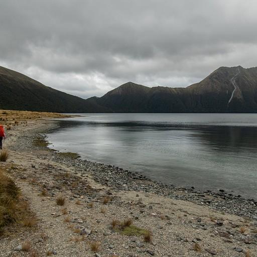 ההליכה לאורך האגם לכיוון הבקתה