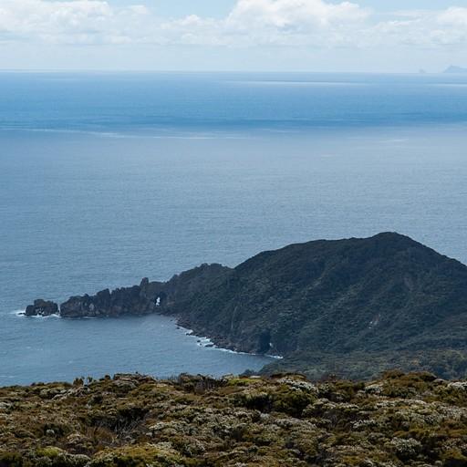 הנוף מהתצפית - cove בקצה האי