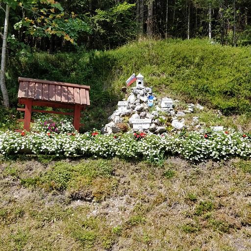 תרשים של הבקתות על ההר, בכניסה לשמורה