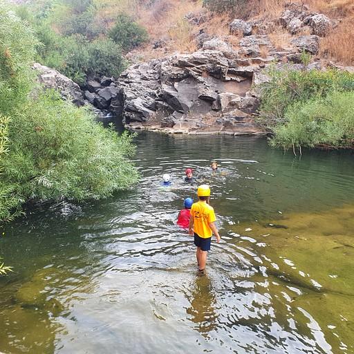 הבריכה הראשונה לפני המפלים