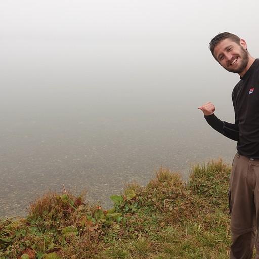 האגם, רואים בקושי מטר קדימה