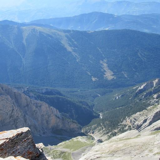 הנוף מהפסגה לכיוון מערב
