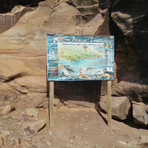 השלט בתחילת המסלול (Mossel Bay)