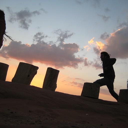שקיעה במאהל המדבר