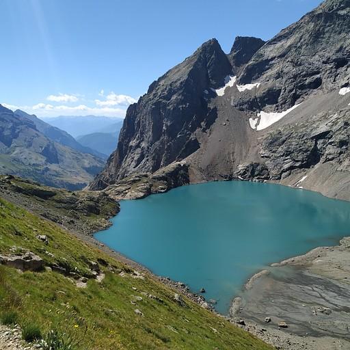 lac de l'eychauda  לא על המסלול הרשמי, הגעתי בטעות.. וריאנט למסלול הרגיל.