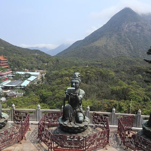 הנוף היפה מטיאן טאו בודהה