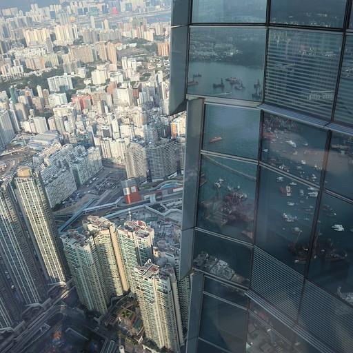 הנוף היפה מתצפית בקומה ה100
