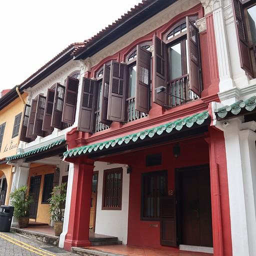 בתים צבעוניים ישנים בOrchard Road