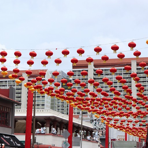 עם פנסים סינים China Town