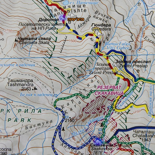 מפה - פניצ'יסטה ובקתת סקקביצה
