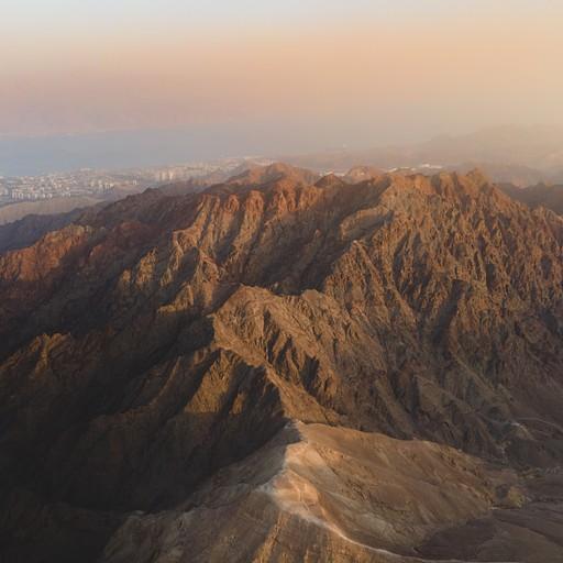 הר שלמה בשקיעה