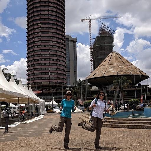אנחנו והבניין הכי מפורסם בניירובי