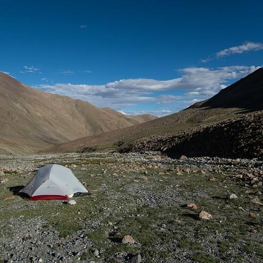 האוהל שהקמנו לפני הhigh camp