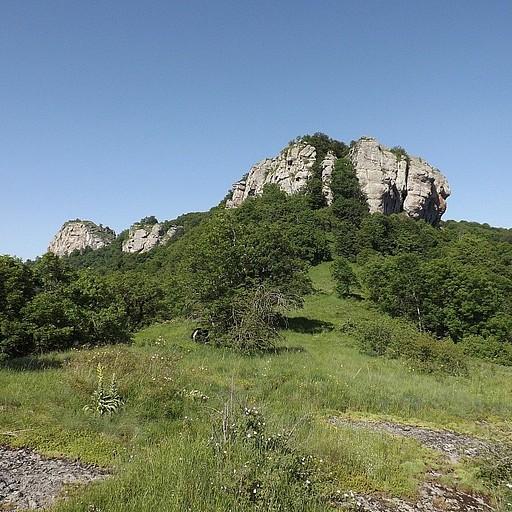 נוף טיפוסי סמוך לפסגה