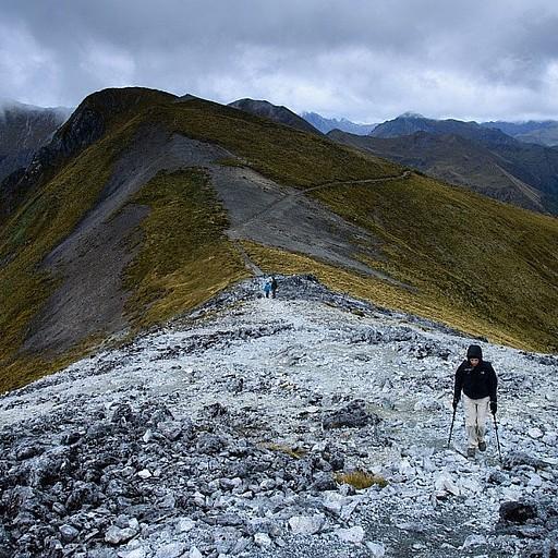הטיפוס ל- Luxmore Mountain