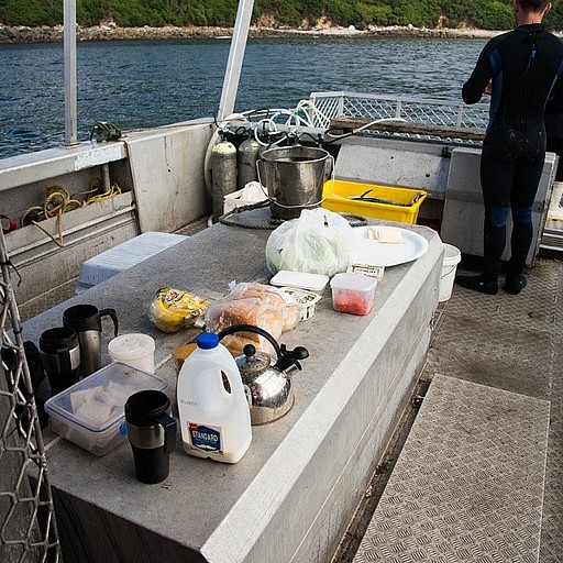 ״ארוחת פועלים״ על הסיפון