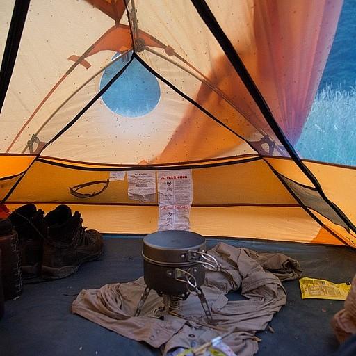נאלצנו לבשל ולאכול בתוך האוהל