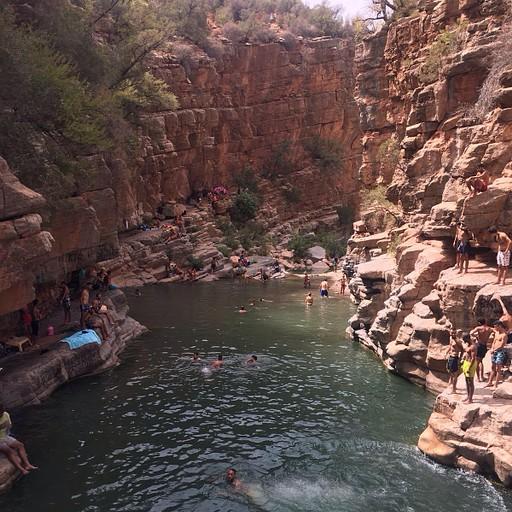 הבריכות בפראדייז וואלי (מקום מושלם לקפוץ למים!)