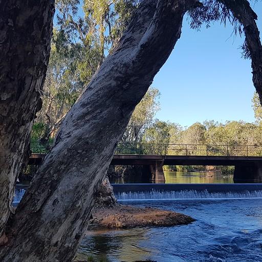 הנחל בתוך העיר קתרין, פארק קטן ונחמד