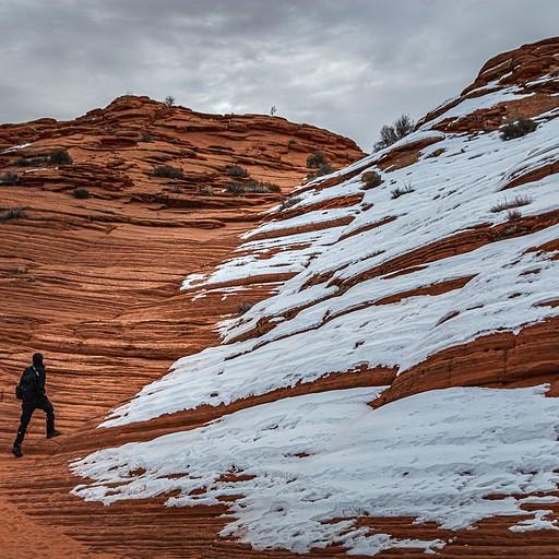 השביל המסומן מפסיק וההליכה עוברת לתוך ההרים