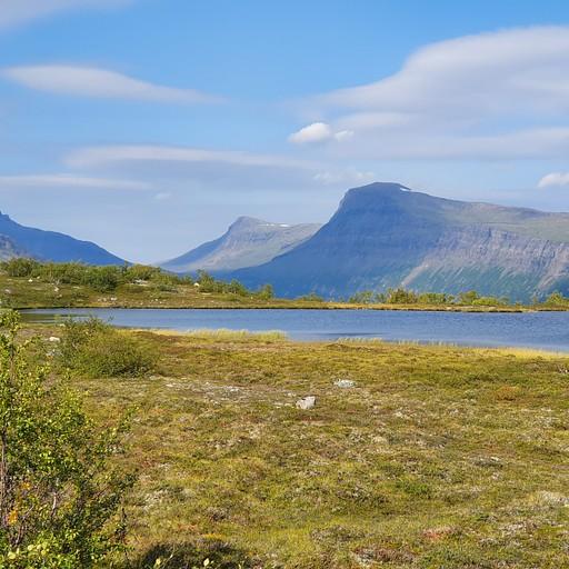 מהמסלול בSaltfjellet